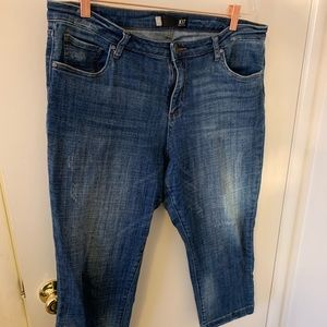 KUT from the Kloth Lauren cropped jeans size 16